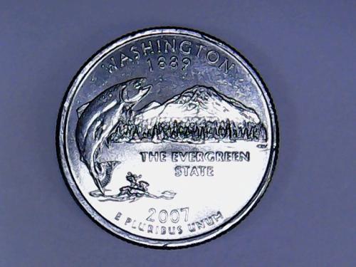 2007 P Washington 50 States and Territories Quarter