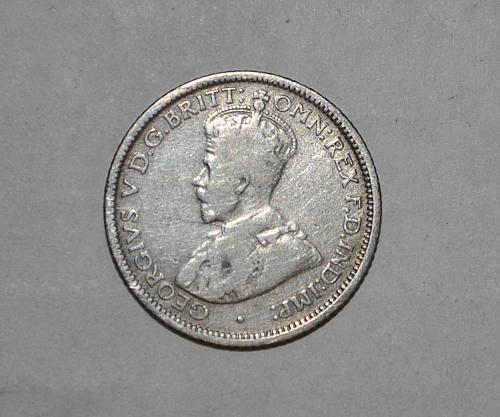 1925 Australia 6 Pence Sixpence x256