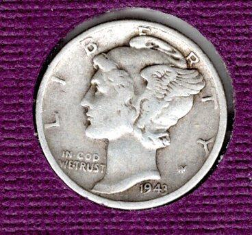 1943 D Mercury Dimes -#5