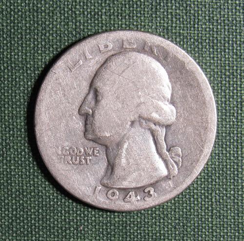 1943D Washington Silver Quarter
