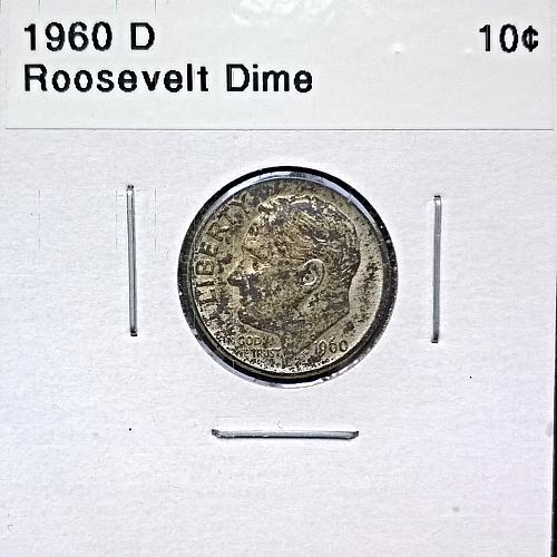 1960 D Roosevelt Dime - 4 Photos!