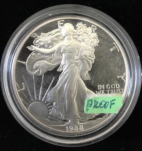 PROOF SILVER US EAGLE 1988S