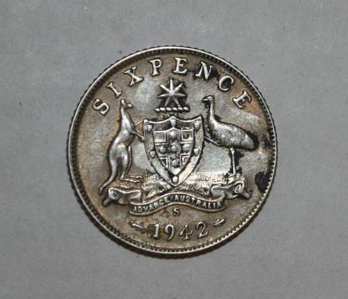 1942 S Australia 6 Pence Sixpence x268