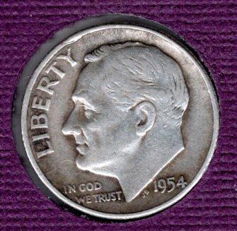 1954p BU Roosevelt Dime -#5