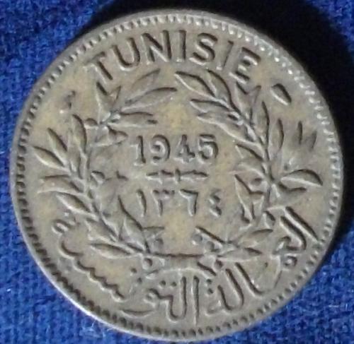 1945 Tunisia Franc VF