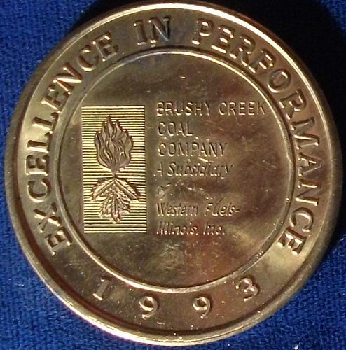1993 Brushy Creek Mine Safety Award