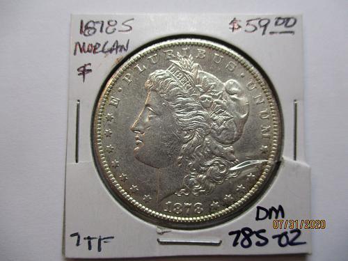 1878-S Morgan Dollar.   Item: DM 78S-02