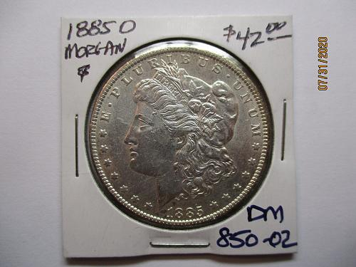 1885-O Morgan Dollar. Item: DM 85O-02.