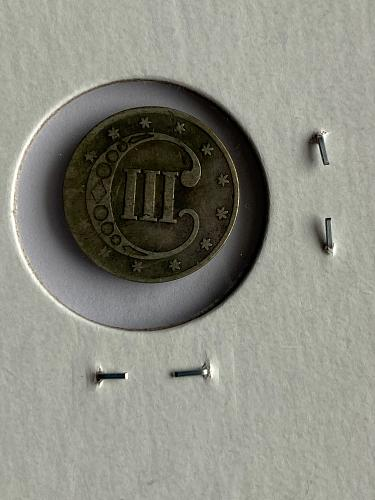 1851 Silver 3C F12