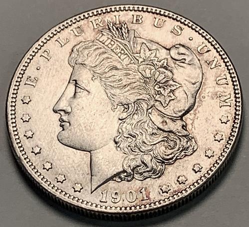 1901-O Morgan Silver Dollar UNC Cleaned [MDL 412]