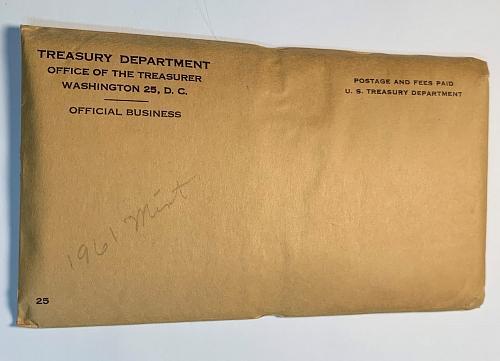1961 P&D Mint Set in Original Mint Pack and Envelope (OGP)