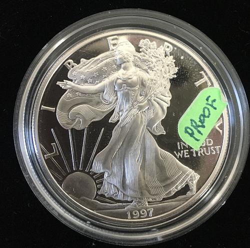 1997 P Eagle Frosted Proof PR69