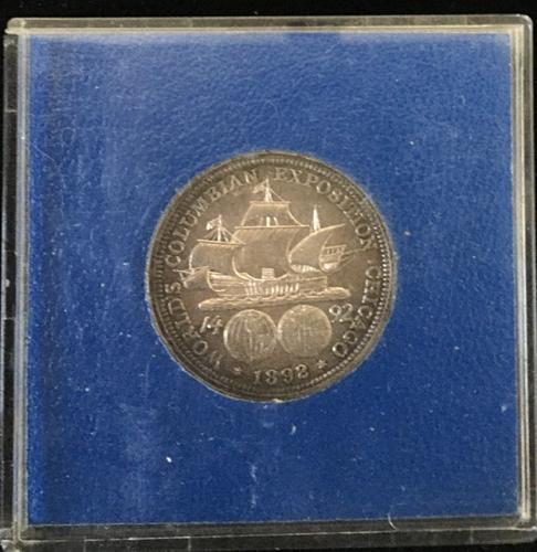 1892 Columbus Expo. Half Dollar Silver