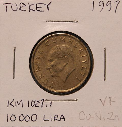 Turkey 1997 10,000 Lira