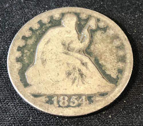 1854 Liberty Seated Half Dollar Variety 3 with Arrows at Date - Circulated