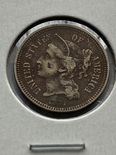 1873 3C Nickel Closed 3