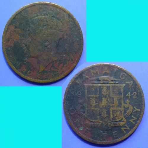 Jamaica 1 Penny 1942 km 32
