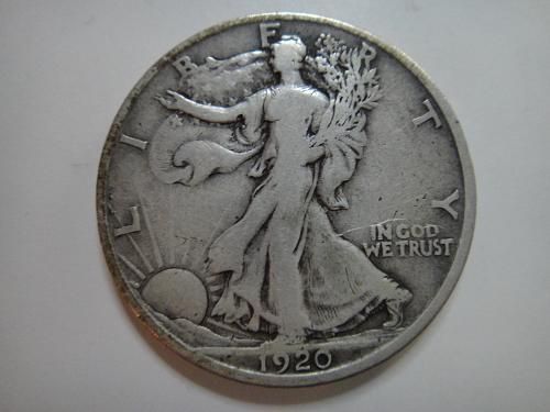 1920-S Walking Liberty Half Dollar Fine-12 Nice Orignial Coin & Minimal Marks!