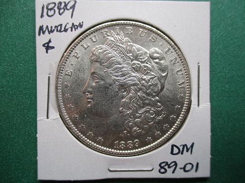 1889 Morgan Dollar.  item:  DM 89-01