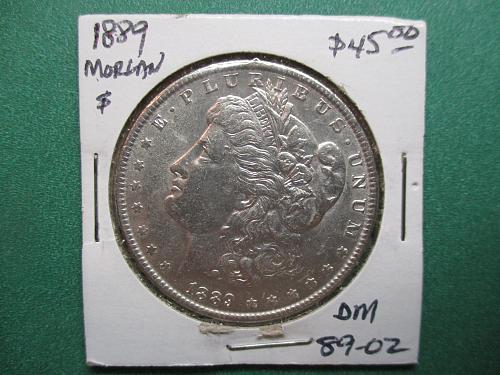 1889 Morgan Dollar.  Item: DM 89-02