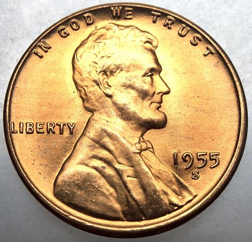 1955 S Lincoln Wheat Cent#20