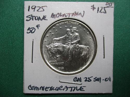 1925 Stone Mountain Classic Commemorative Half Dollar.  Item: CM 25 SM-01.