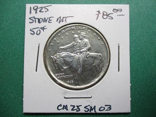 1925 Stone Mountain Classic Commemorative Half Dollar.  Item: CM 25 SM-03.