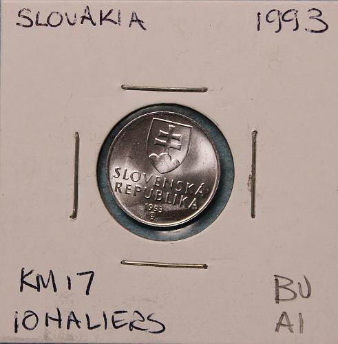 Slovakia 1993 10 haliers