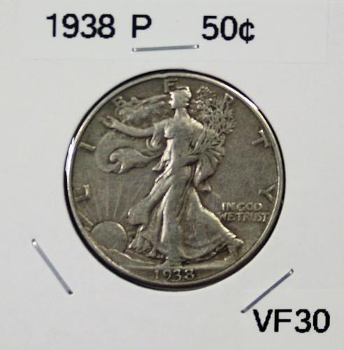 1938 P Walking Liberty Half Dollar