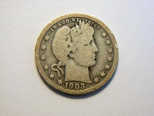 1903-P Silver Barber Quarter