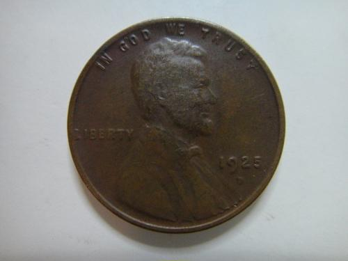 1925-D Lincoln Cent Very Fine-30 Nearly Mark Free & Sharply Defined Reverse!