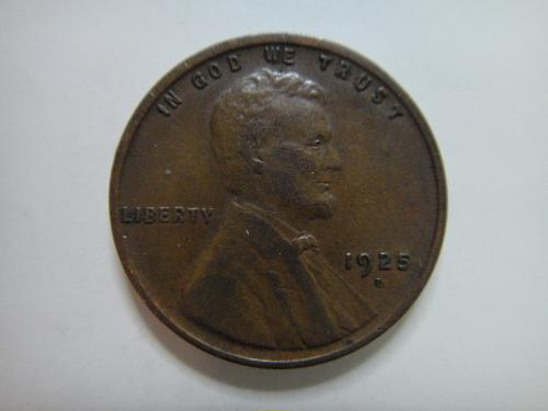 1925-D Lincoln Cent Extra Fine-40+ Rotated Reverse 15 Degrees Right!