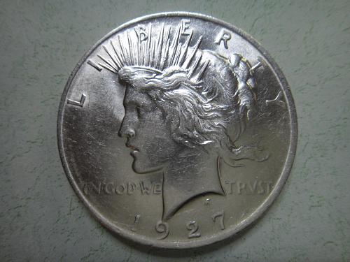 1927-D Peace Dollar Almost Uncirculated-55 Nice LUSTER Especially Reverse!