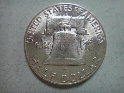 1949-D Franklin Half Dollar MS-63 (Choice BU) Tough Date In Series!