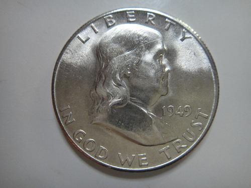 1949-S Franklin Half Dollar MS-63 (Choice BU) KEY DATE! Nice For Grade!