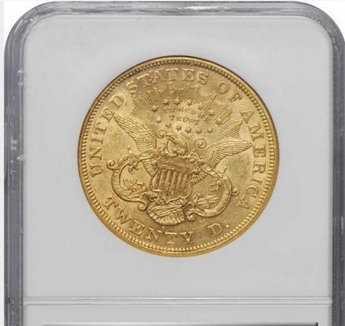 1873 S OPEN 3 $20 GOLD LIBERTY HEAD DOUBLE EAGLE