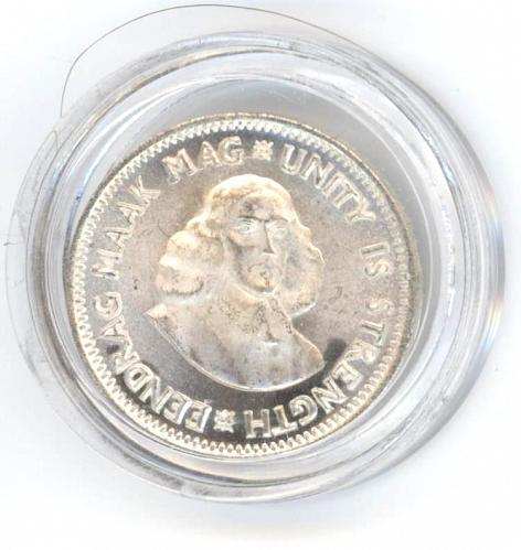 2 1/2 cents 1961. South Africa. Proof. BU. Silver. Only 7530 were minted.