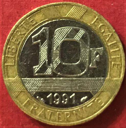 France 1991 - 10 Francs [#2]
