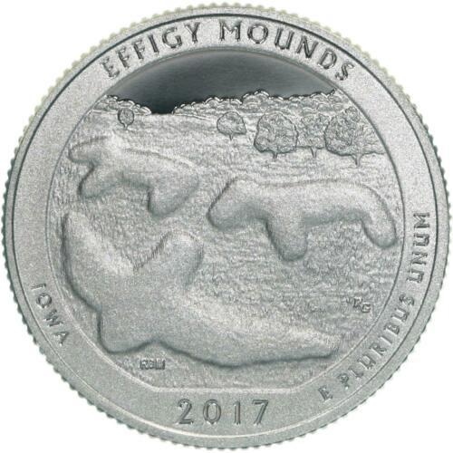 2017   D   EFFIGY MOUNDS  -  AMERICA THE BEAUTIFUL  -  QUARTER