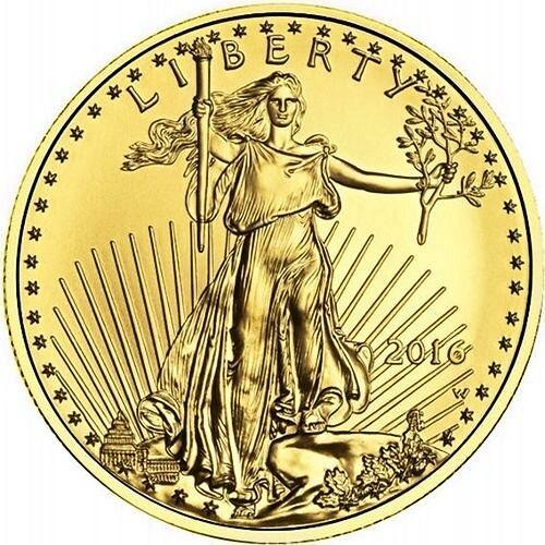 2016 US Mint 1/4 Troy Oz Fine Gold American Eagle $10 Coin BU Uncirculated