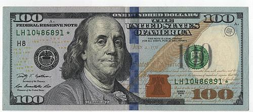 100 Dollars 2009 A. US STAR note. Circulated