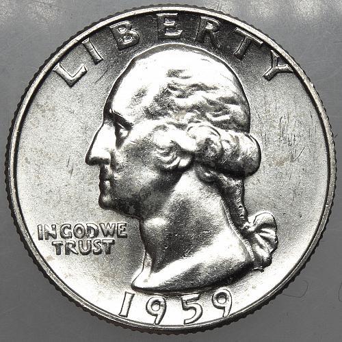 1959 D Washington Quarter #8 MS64