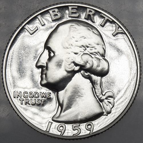 1959 P Washington Quarter#11 PROOF