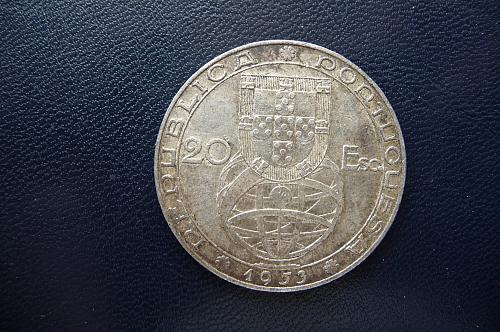 Portugal. 20 Escudos. 80% Silver