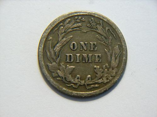 1912-P *Toned* Silver Barber Dime