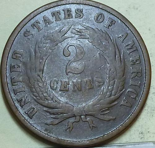 1866 Two Cent Piece in FINE condition. ((W-104) _