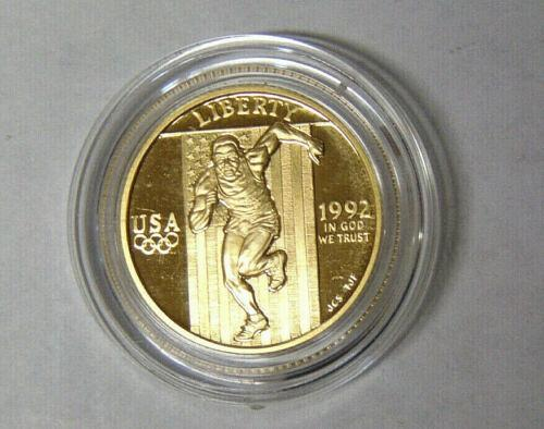 1992   GOLD  1/4 OZ.  $5.00   OLYMPIC COINS  COMMEMORATIVE SET