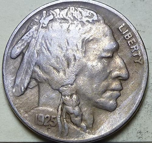 1925-P  Extra Fine Buffalo Nickel  S109