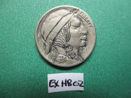 Hobo Nickel.  An Original by Abby Z.  Item: EX HB-02.