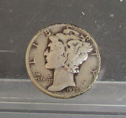 1939 P Mercury Dime  #2